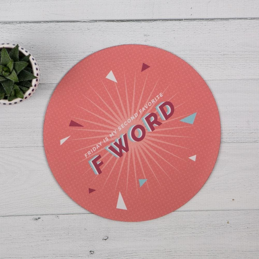 F Word Mouse Pad - Tech