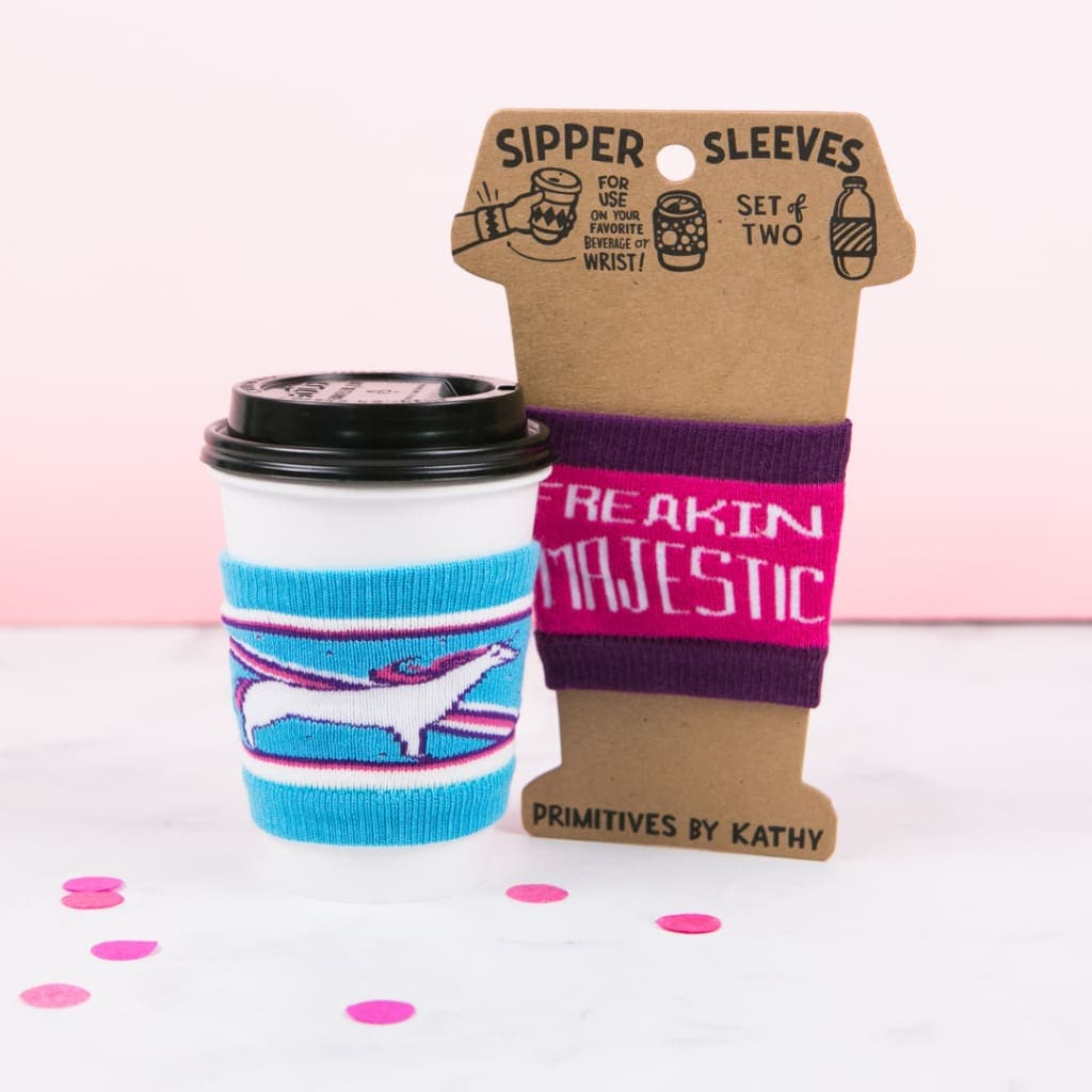 Freaking Majestic Drink Sipper Sleeves (Set of 2)