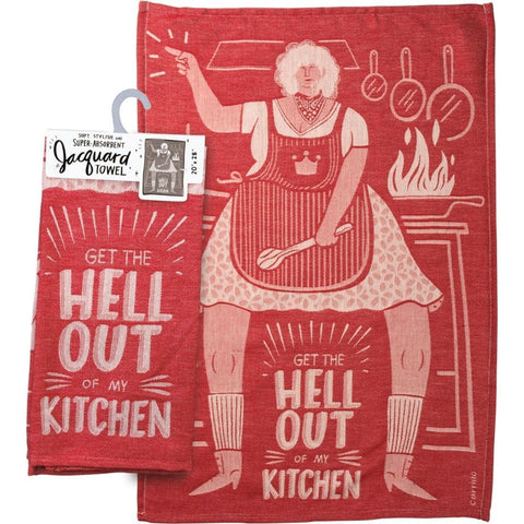 Get The Hell Out of My Kitchen Jacquard Towel