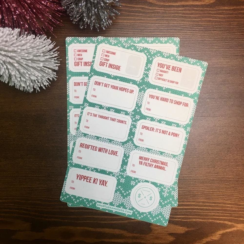 Holiday Gift Labels (2 Sheets)