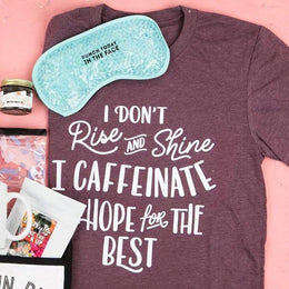 I Caffeinate & Hope for the Best T-Shirt - Shirts