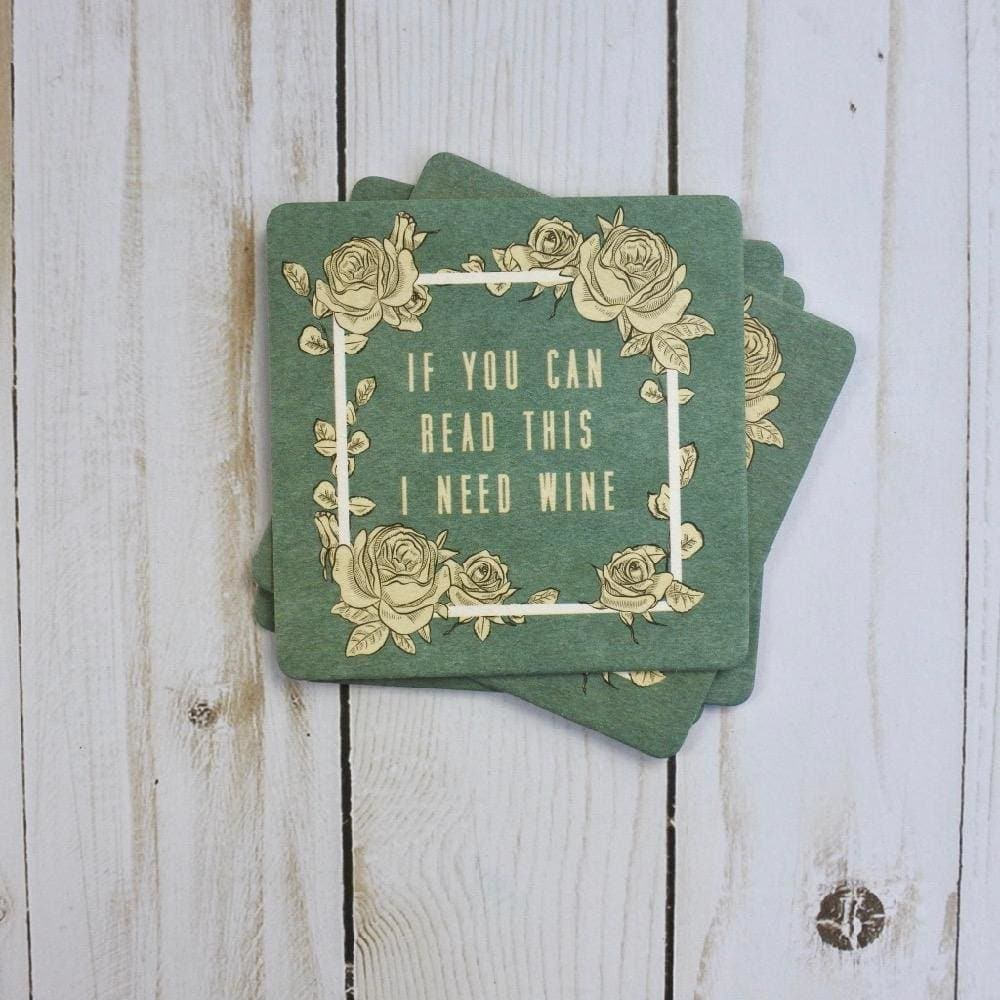 I Need Wine Coasters (4 pack) - Drinkware