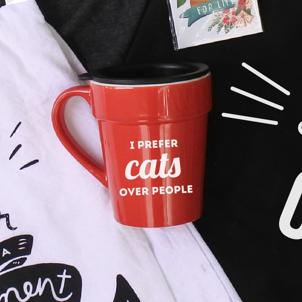 I Prefer Cats Over People Mug