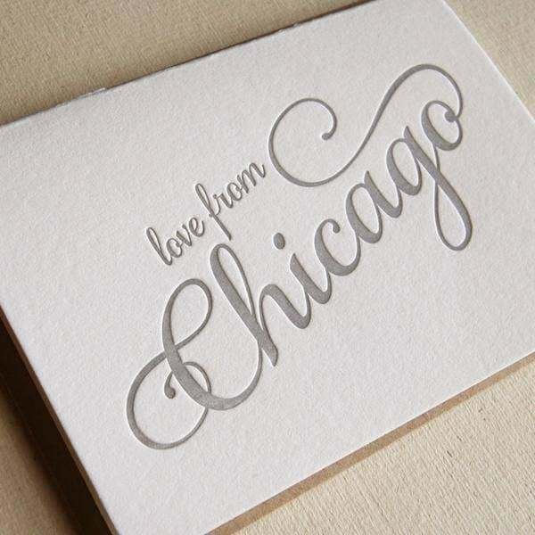 Love from Chicago Cards (6-pack) - Greeting Cards