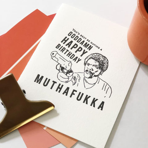 Muthafukka Birthday Card