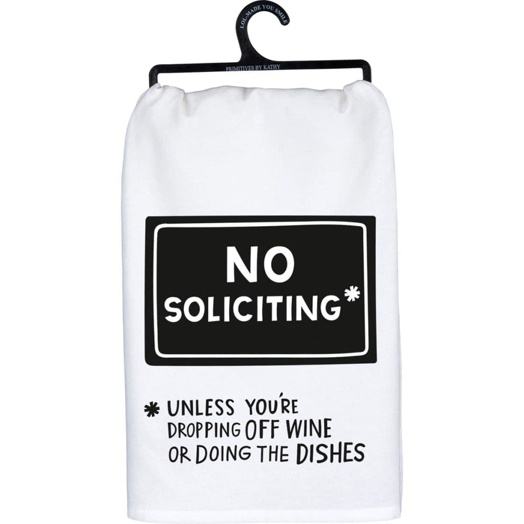 No Soliciting Towel