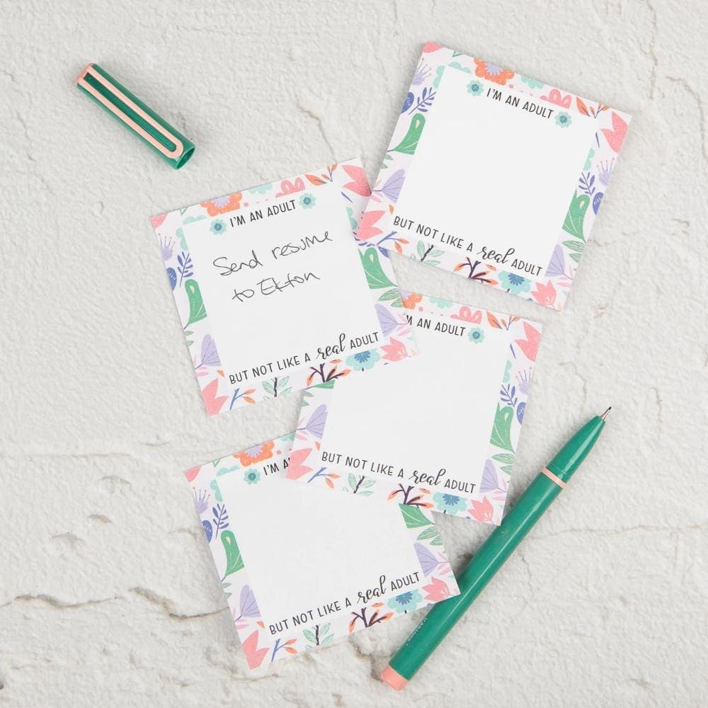 Not a Real Adult Sticky Notes - Notebooks & Notepads