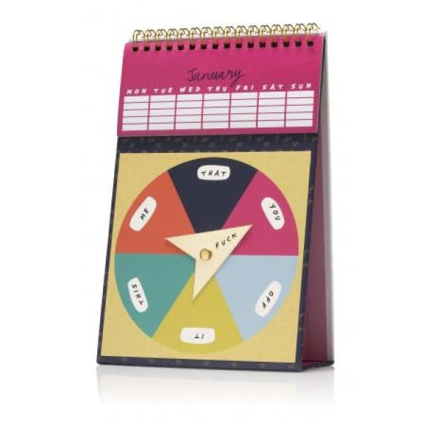 Optional F/ck Monthly Perpetual Spinner Calendar - Notebooks & Notepads