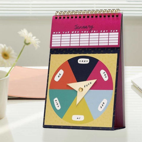 Optional F/ck Monthly Perpetual Spinner Calendar