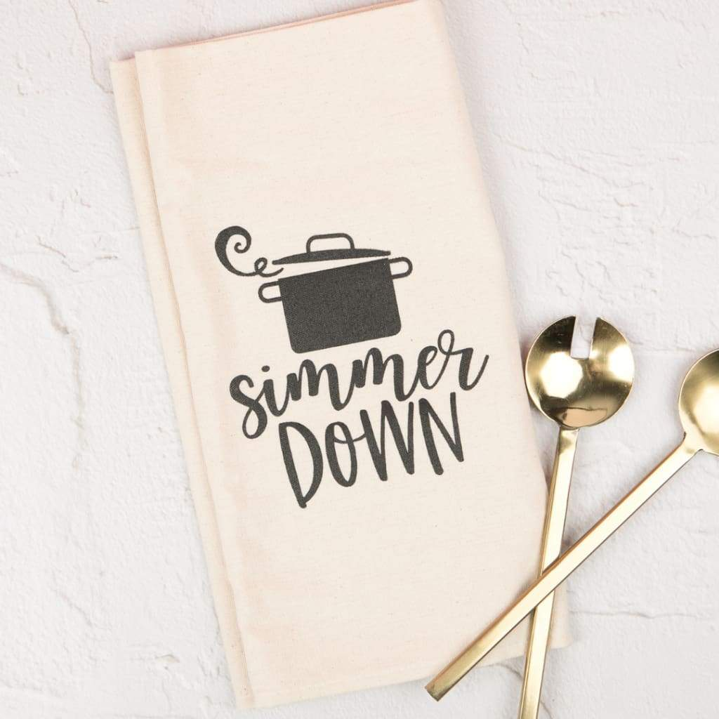 Simmer Down Tea Towel