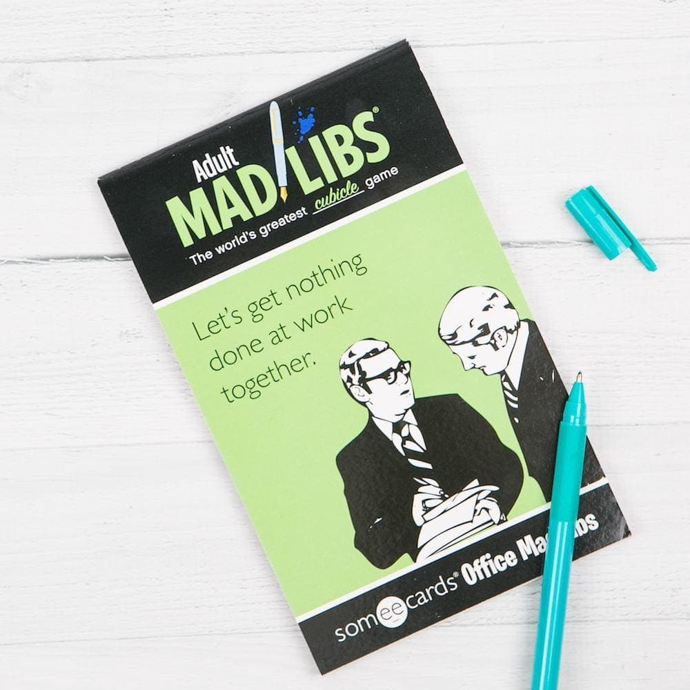 someecards Office Mad Libs - Books