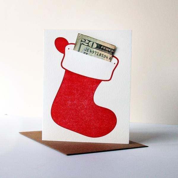 Stocking Greeting Card | Money Holder