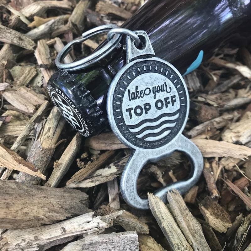 Take Your Top Off Bottle Opener Keychain - Keychains & Tags