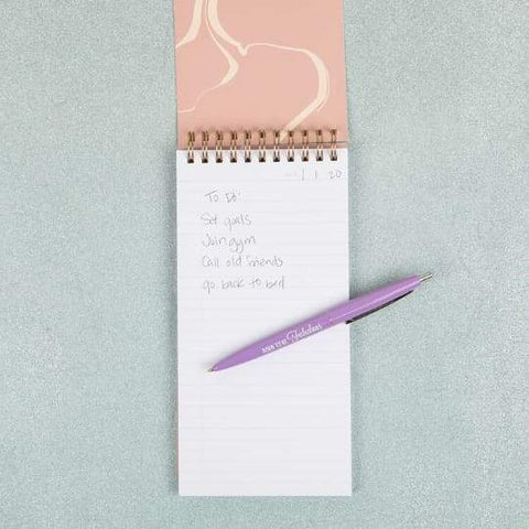 Taking Notes Vegan Leather Tall Notepad