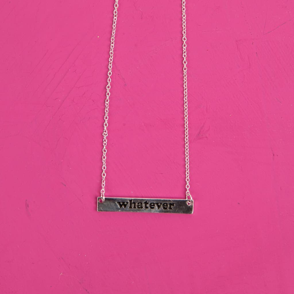 Whatever Silver Necklace - Jewelry