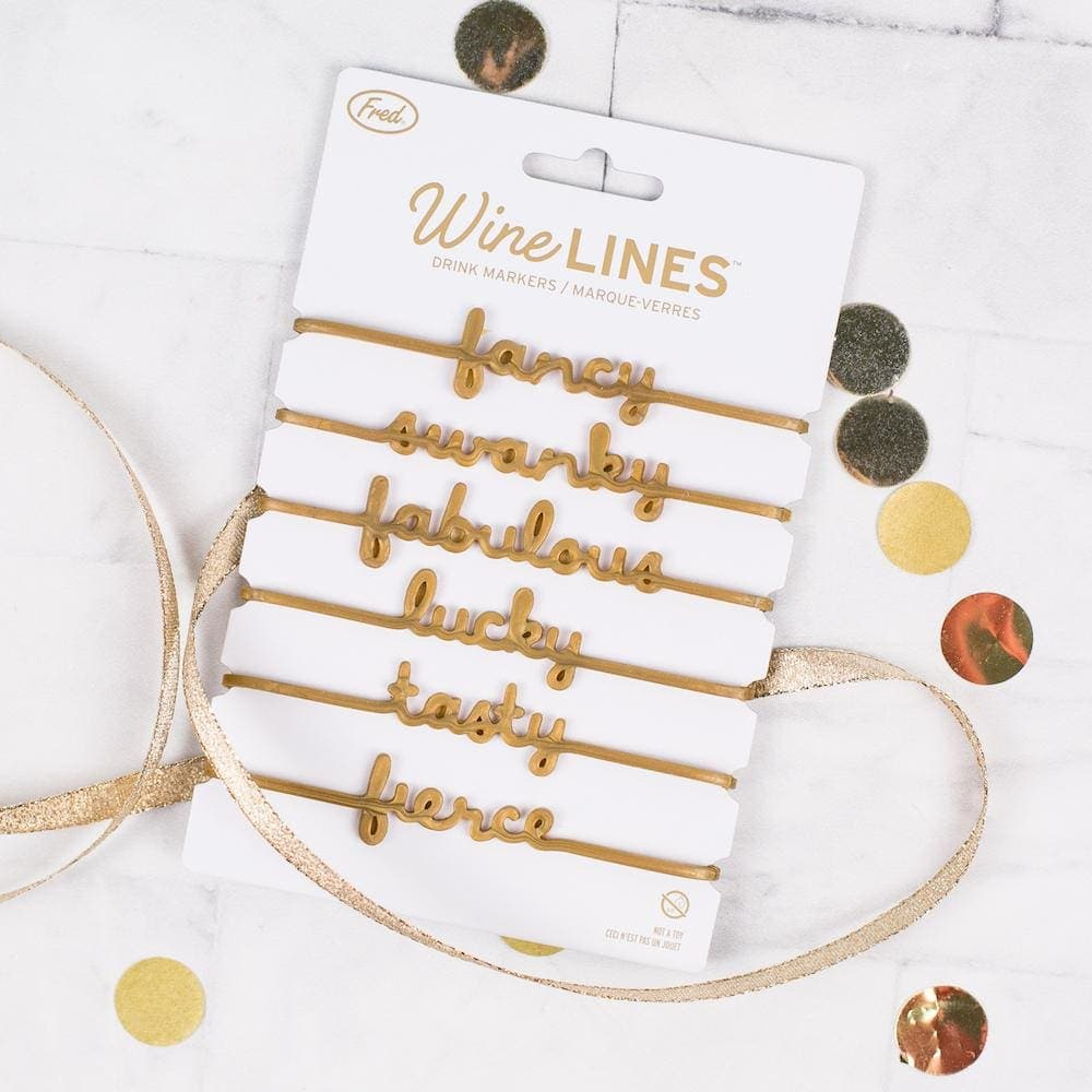 Wine Lines Sassy Drink Markers