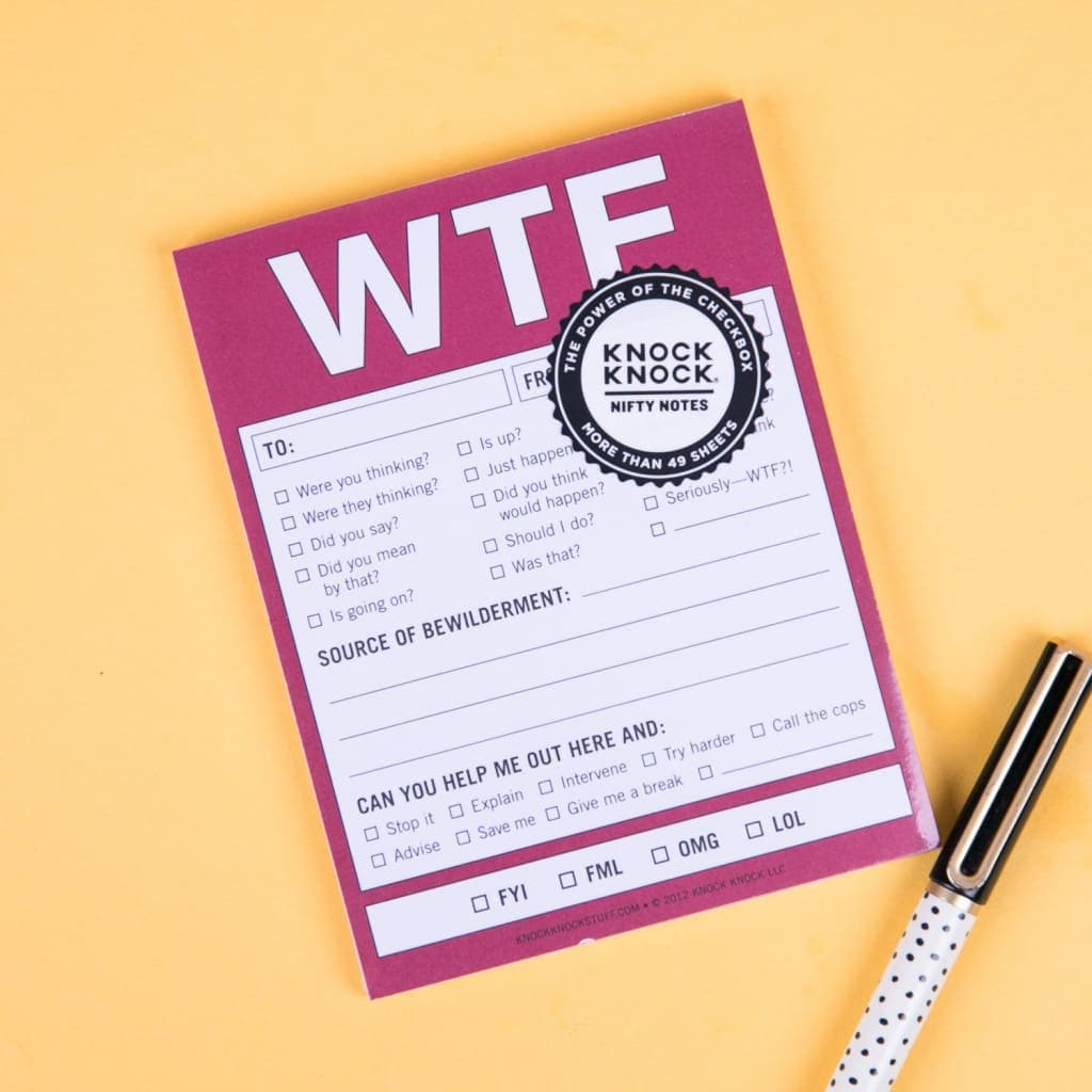WTF Nifty Notepads - Notebooks & Notepads