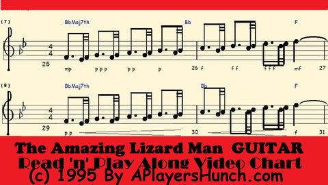 The Amazing Lizard Man    GUITAR PAVMC