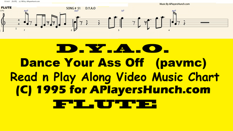 Dance Your Ass Off   FLUTE PAVMC