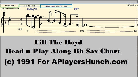 Fill The Boyd    Bb SAX PAVMC