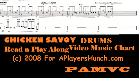 CHICKEN Savoy  DRUMS PAVMC