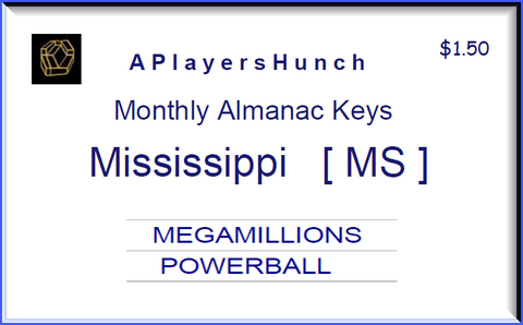Monthly Almanac Keys  MS Mississippi