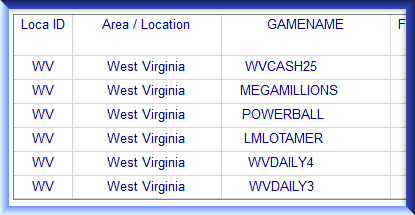 Monthly Almanac Keys   WV West Virginia