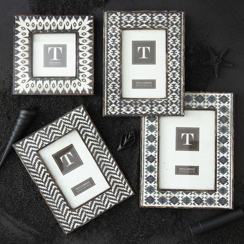 Picture of Bone Inlay Ikat Frames