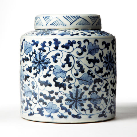 Picture of Blue & White Tea Canister