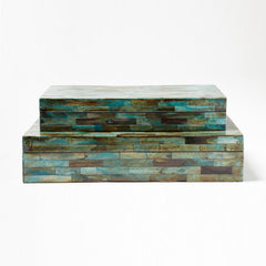 Verdigris Bone Box