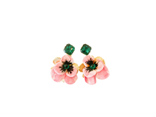 Load image into Gallery viewer, The Pink Reef pink velvet floral with emerald top