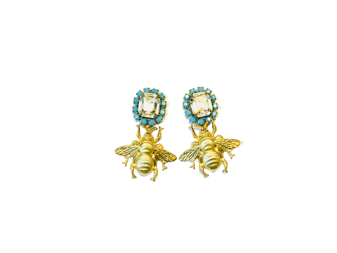 The Pink Reef turquoise crystal mini queen bee