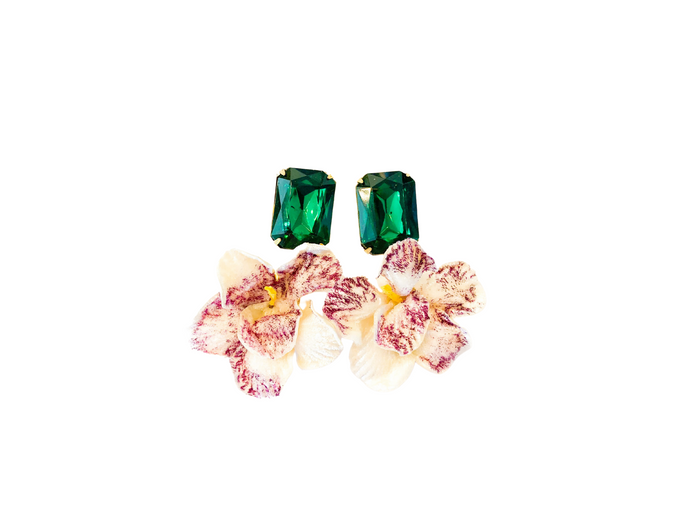 The Pink Reef velvet orchid with emerald top