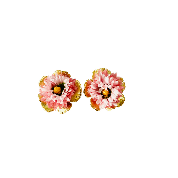 The Pink Reef keepsake pink bloom stud