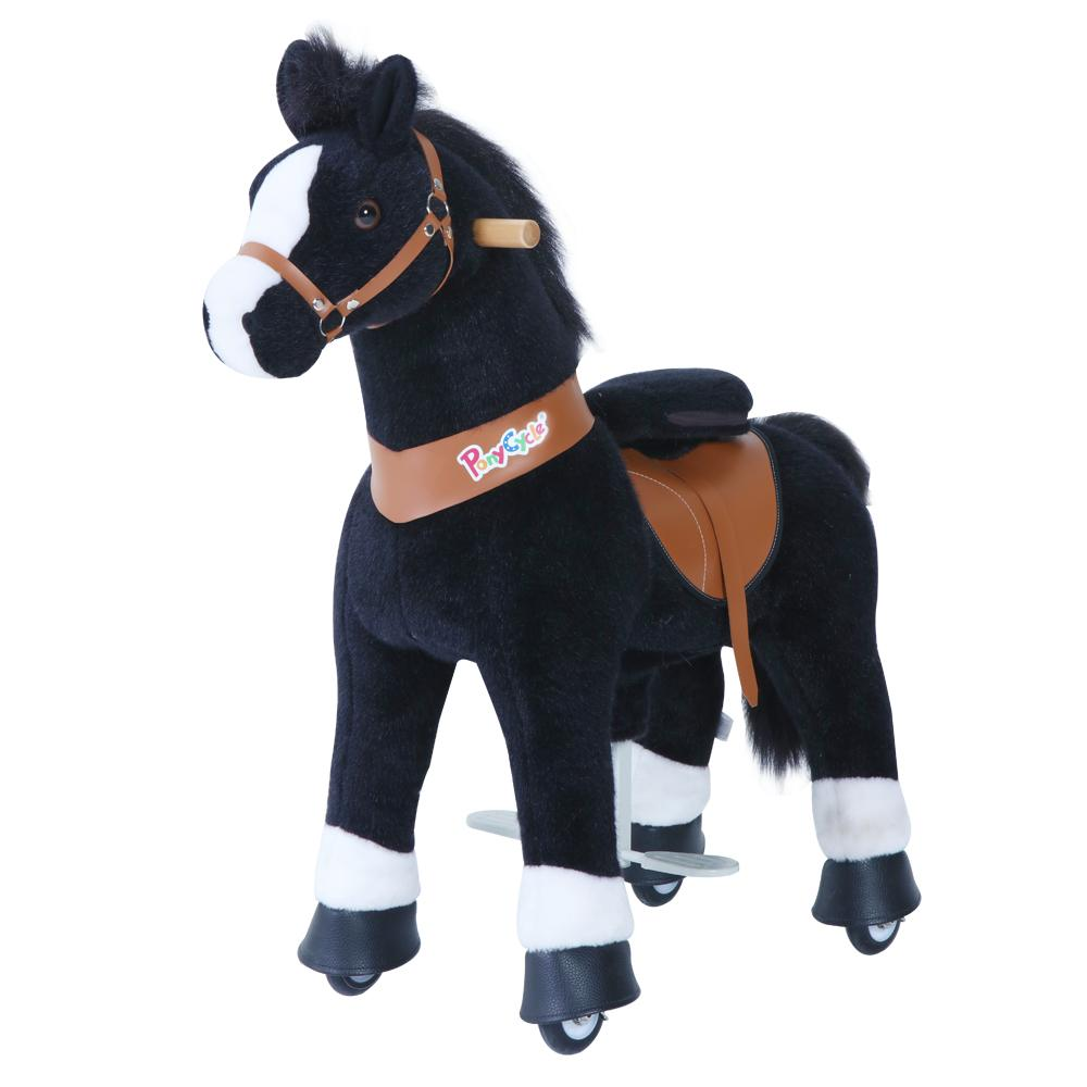 Dark Brown Small PonyCycle Ride-On Horse for 3-5 Years Old