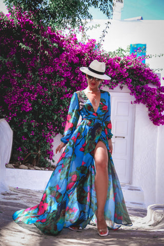 PRE ORDER: Summer Breeze Floral Wrap Maxi Dress
