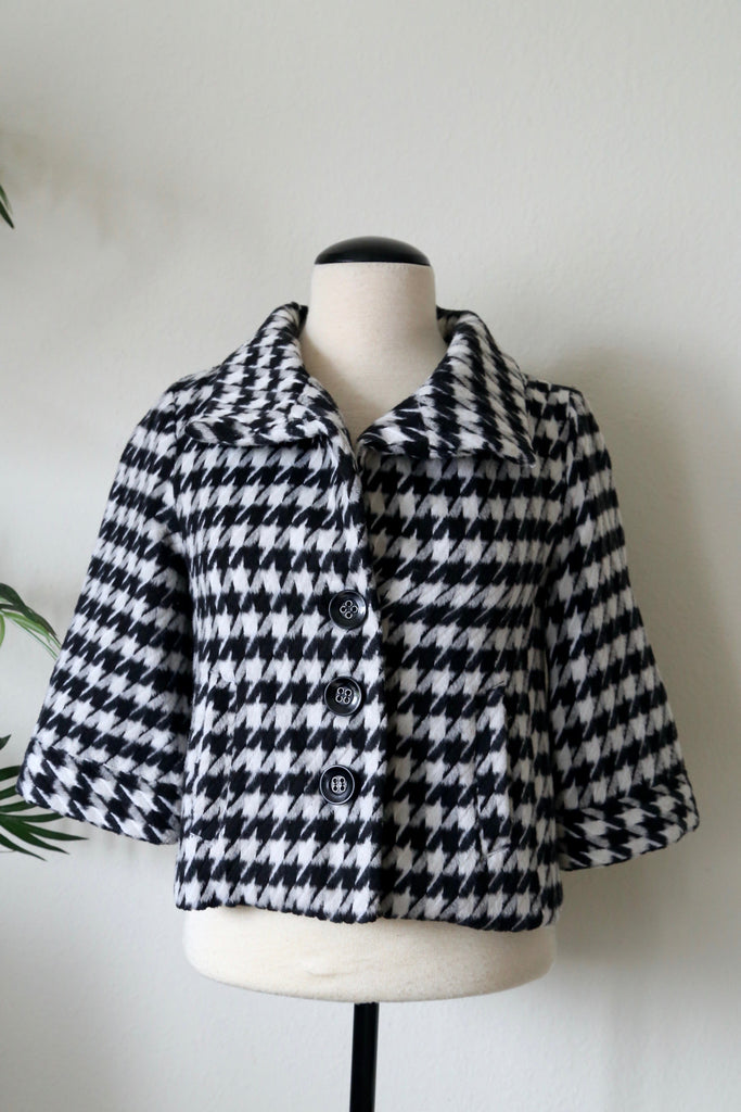 Forever 21 Houndstooth Crop Jacket