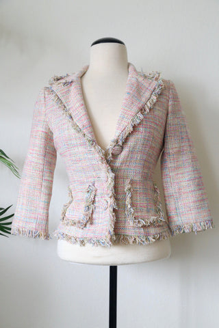 Arden B Pastel Color Tweed Jacket