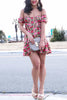 FOR LOVE & LEMONS Amelia Strapless Mini Floral Dress