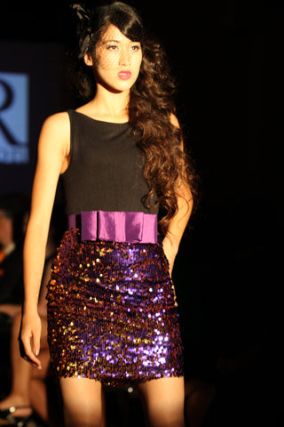 KTR Bow Sequins Skirt