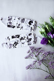 Sweet Floral Face Mask (Black/White) with Adjustable Ear Loops