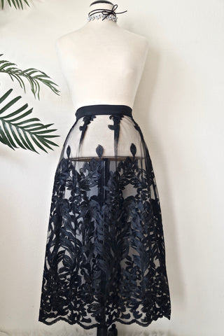 * MADE TO ORDER: The Lace Effect Skirt