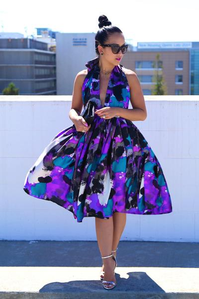 KTR Attach Me Not Abstract Midi Dress / Skirt