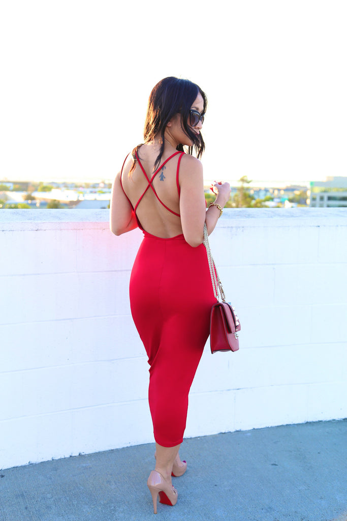 BDay Dress in Red