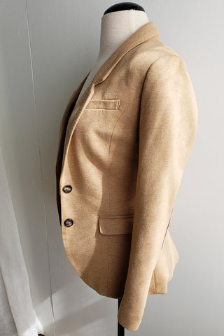 H&M Tan Blazer with Elbow Patch