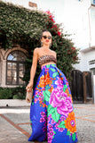 * MADE TO ORDER: Flower Power Maxi Skirt with Slit