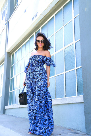 * MADE TO ORDER: Off the Shoulder Maxi Dress