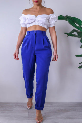 American Apparel High Waisted Blue Trousers