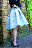 * MADE TO ORDER: High Low Rosette Skirt in Blue