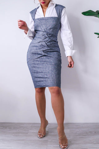 Nicole Miller Denim BodyCon Dress